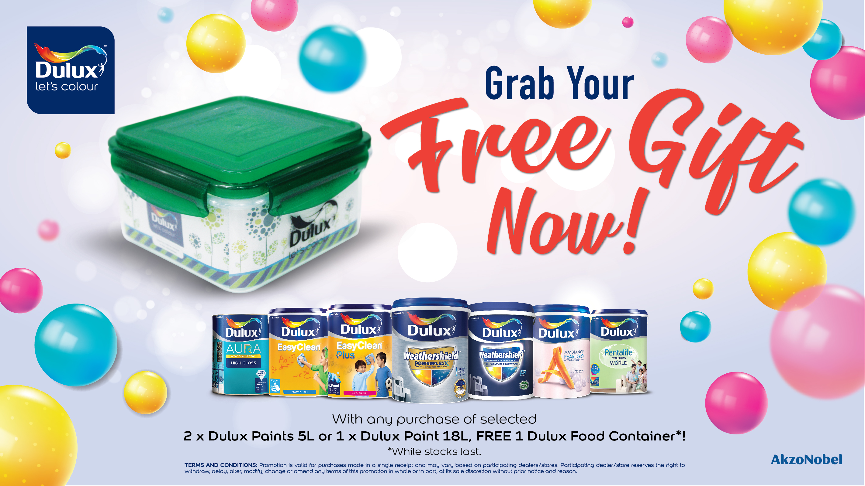 Get a free gift when you purchase selected Dulux Paints!