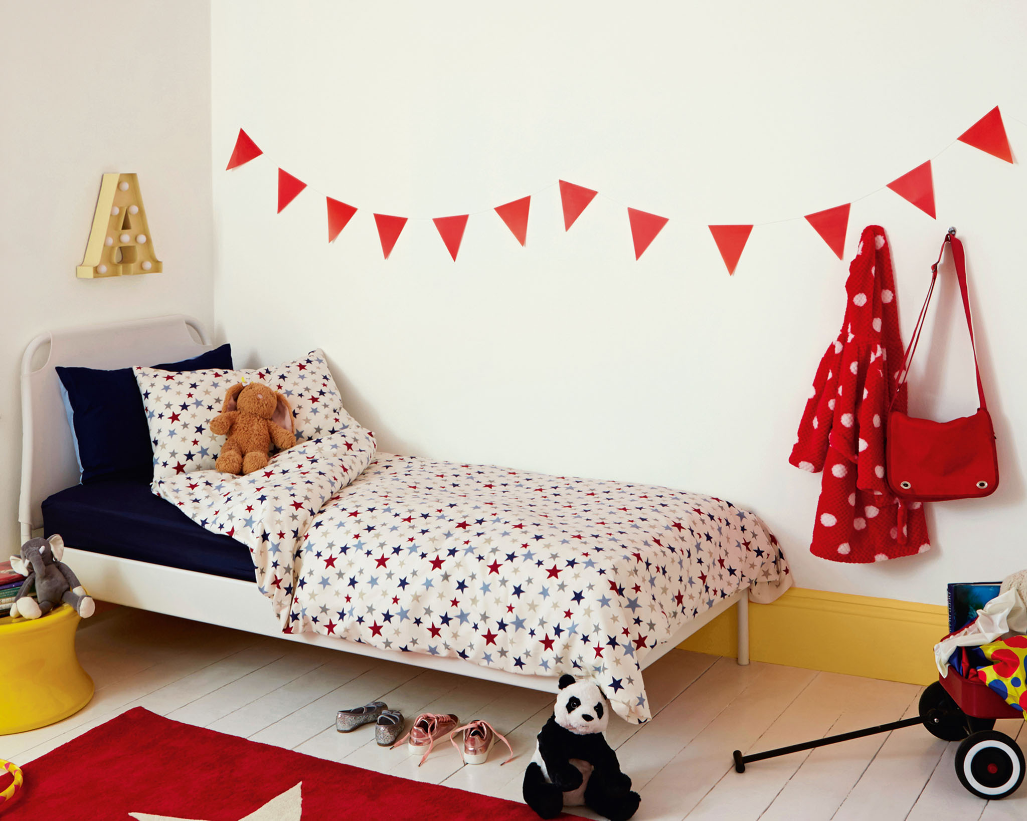Try white in your child's bedroom for a look that's both stylish and versatile