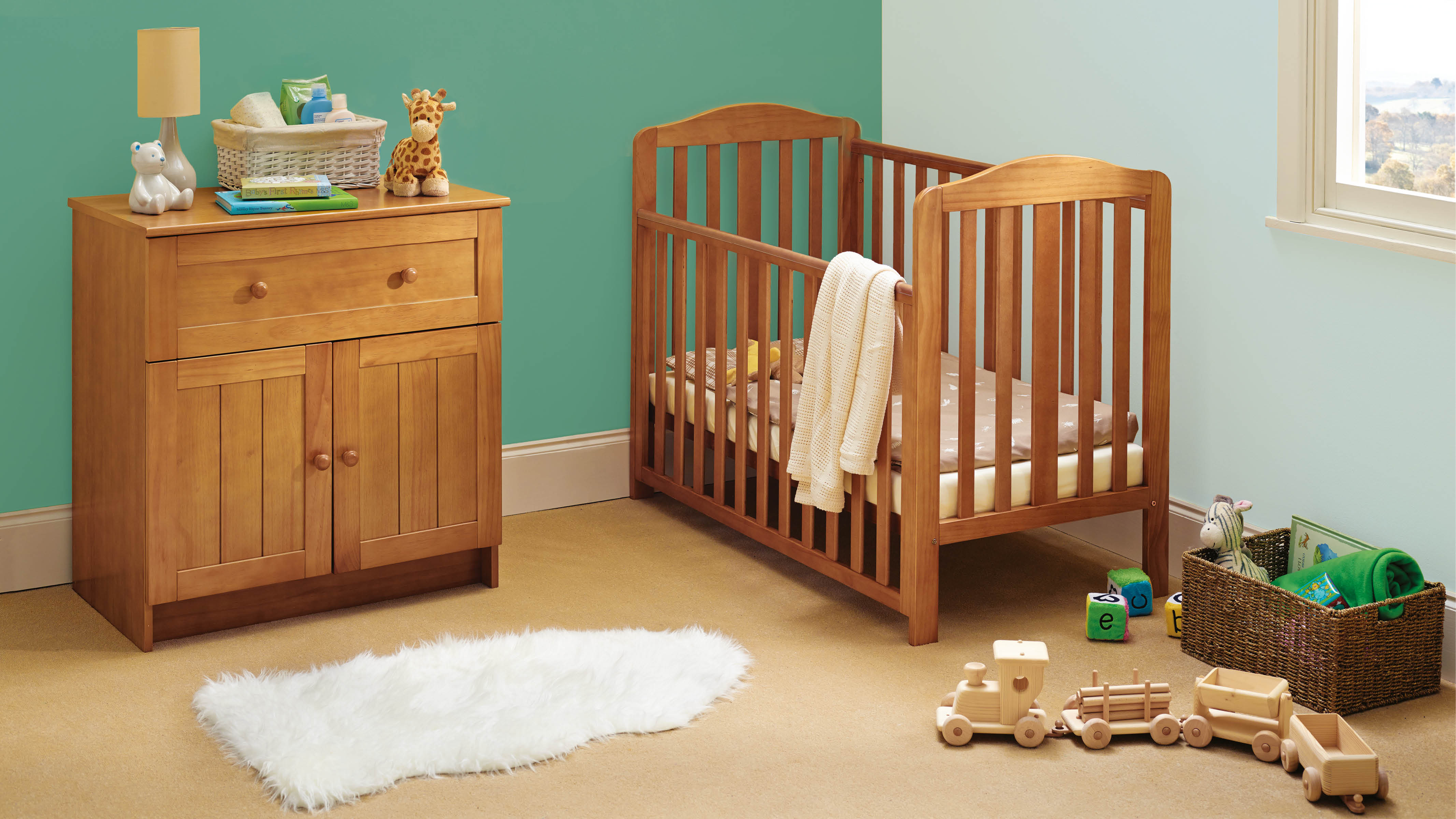 Bring a touch of the outdoors inside with a nature or woodland-inspired nursery scheme.