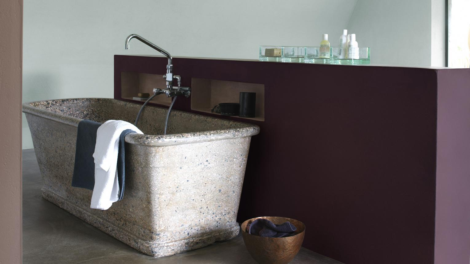 Dreaming of a spa retreat? Create a tranquil haven with textured surfaces and a colour scheme inspired by nature.