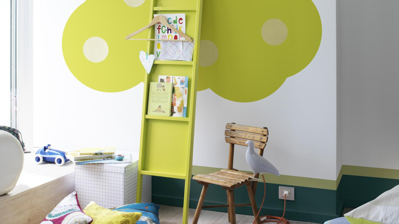 Be playful with your use of colour and shapes in a children's room.