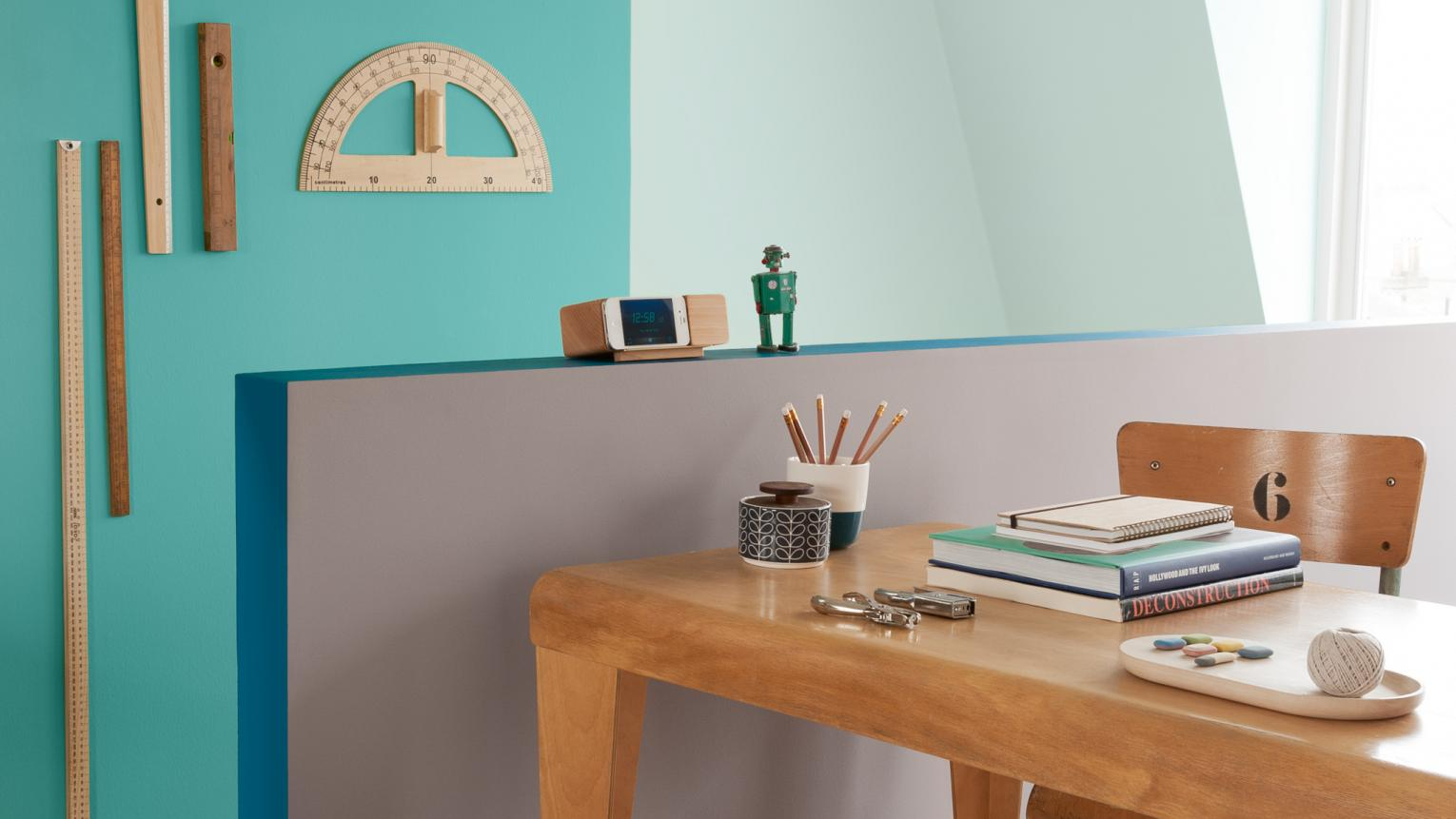Create a work space that'll get your creative juices flowing.