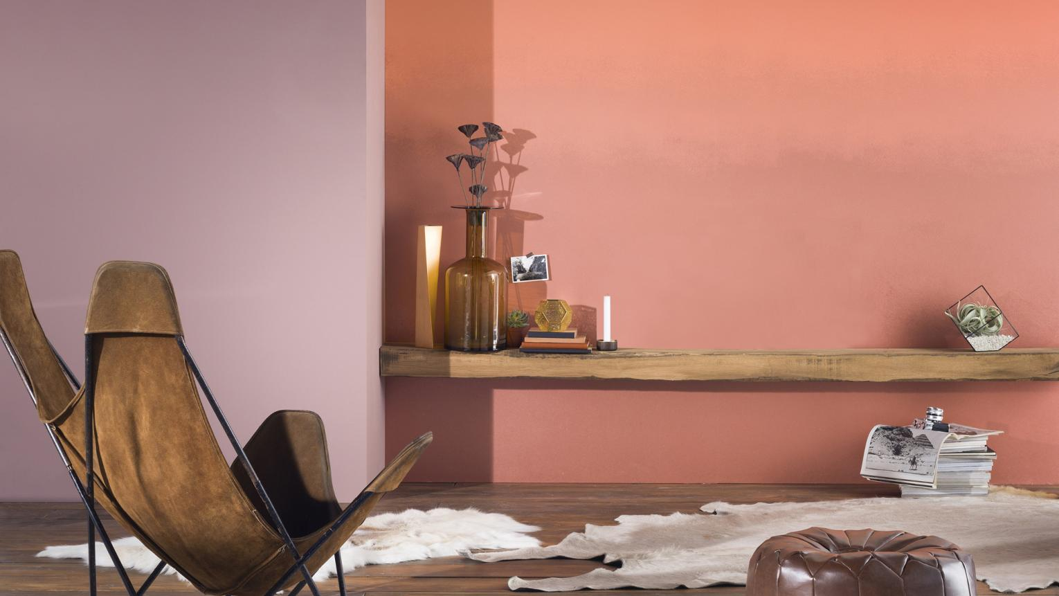 Ombre creates an ethereal look that works really well as a feature wall – perfect if you want to introduce several colours into your scheme without appearing too fussy.