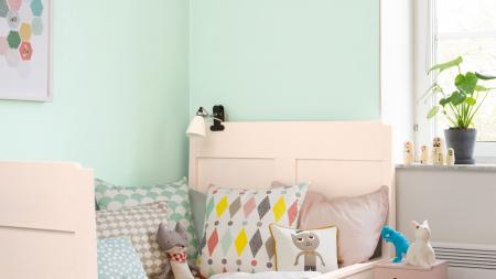 A child's bedroom, decorated first