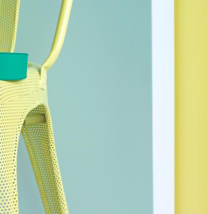 Team lemon yellow with soft green for a fresh, cheerful look.