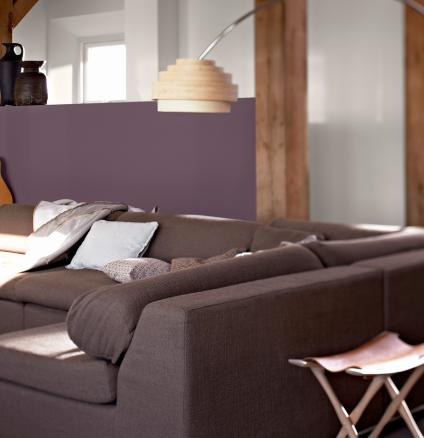 Decorating an open plan living room? Use colour to define different areas in an open-plan room.