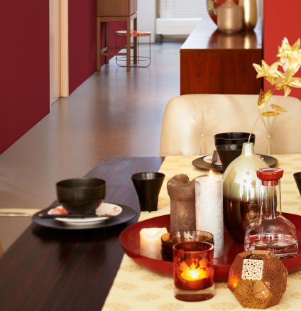A rich red with elements of both brown and purple, maroon is a colour that evokes comfort and warmth.